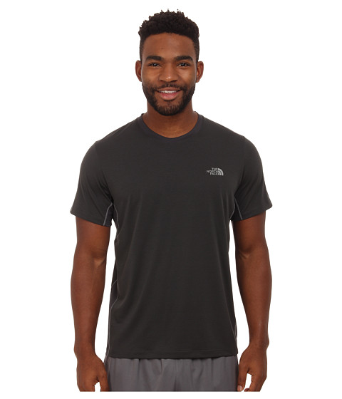 The North Face - Ampere Short Sleeve Crew Shirt (Asphalt Grey/Asphalt Grey) Men