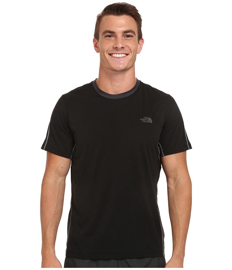 The North Face - Ampere Short Sleeve Crew Shirt (TNF Black/Asphalt Grey) Men