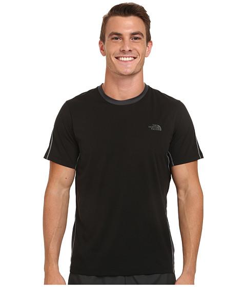 The North Face - Ampere Short Sleeve Crew Shirt (TNF Black/Asphalt Grey) Men