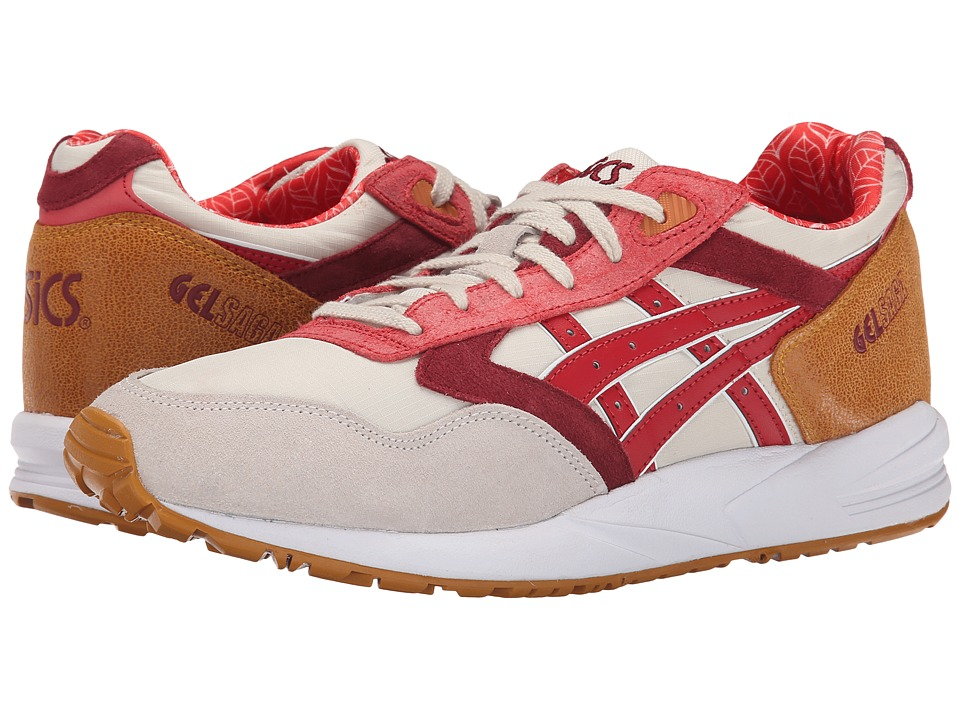 ASICS Tiger - Gel-Saga (Off White/Red) Men's Shoes