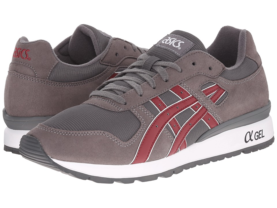 Onitsuka Tiger by Asics - GT-II (Grey/Burgundy) Men's Lace up casual Shoes