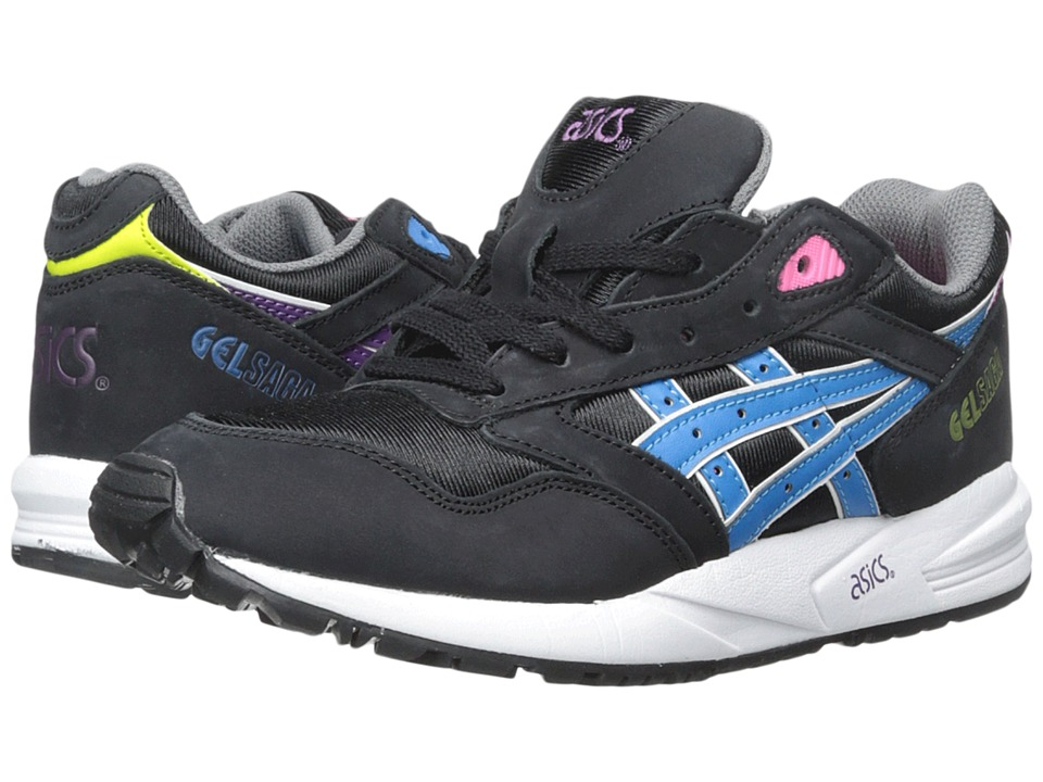 ASICS Tiger Gel-Saga Black-Blue Aster Womens Lace up casual Shoes