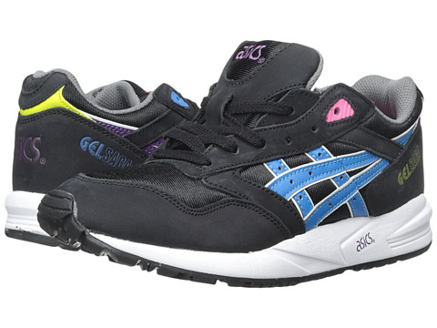Onitsuka Tiger by Asics - Gel-Saga (Black/Blue Aster) Women's Lace up casual Shoes