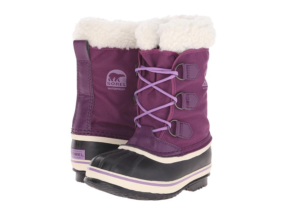 SOREL Kids - Yoot Pac Nylon (Little Kid/Big Kid) (Bramble/Black) Girls Shoes