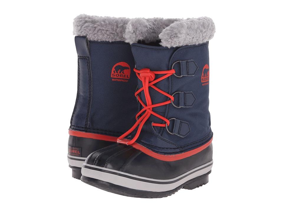 SOREL Kids Yoot Pactm Nylon (Little Kid/Big Kid) (Collegiate Navy/Sail Red) Boys Shoes