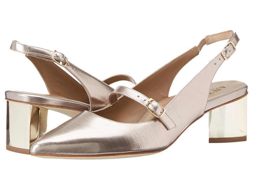 Anyi Lu - Gigi (Champagne Linen) Women's 1-2 inch heel Shoes