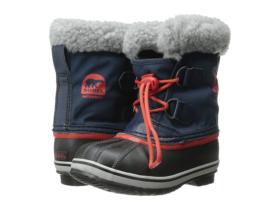 SOREL Kids Yoot Pactm Nylon (Toddler/Little Kid) (Collegiate Navy/Sail Red) Boys Shoes
