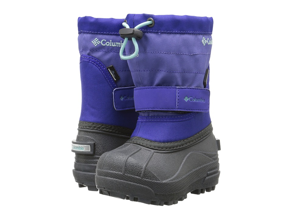 Columbia Kids - Powderbug Plus II Boot (Toddler/Little Kid/Big Kid) (Purple Lotus/Gulf Stream) Girls Shoes