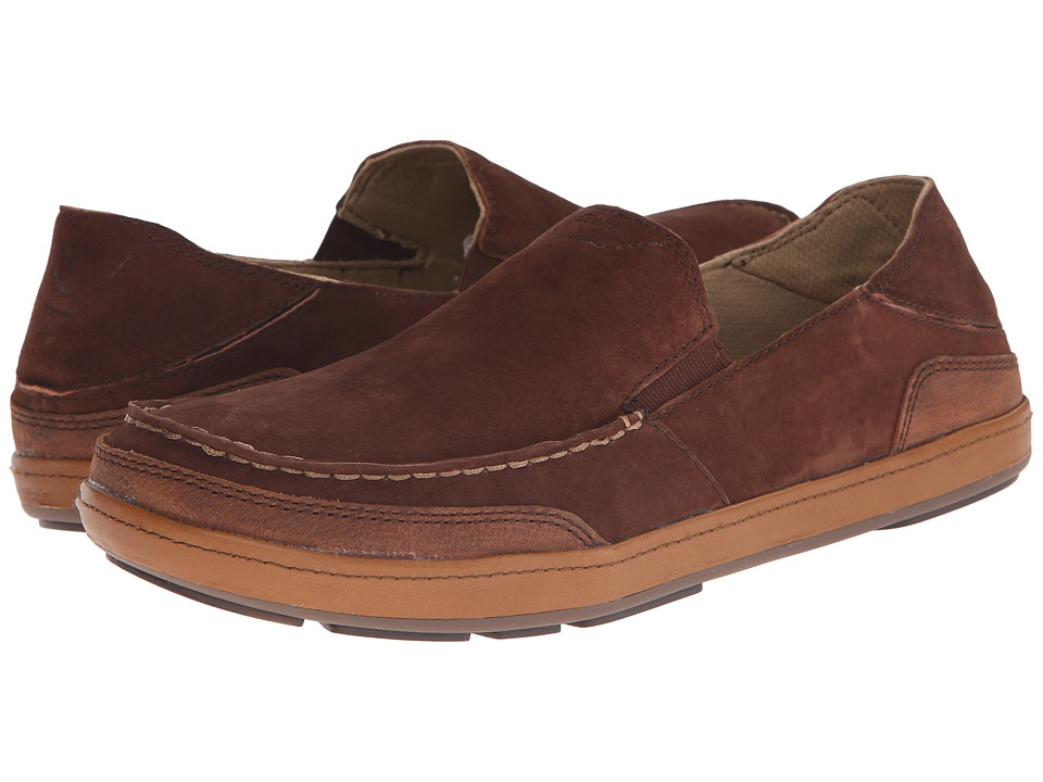 OluKai - Puhalu (Kona Coffee/Tobacco) Men's Slip on Shoes