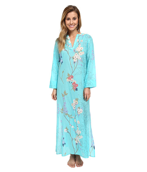 Natori - Sakura Caftan (Light Blue) Women's Pajama
