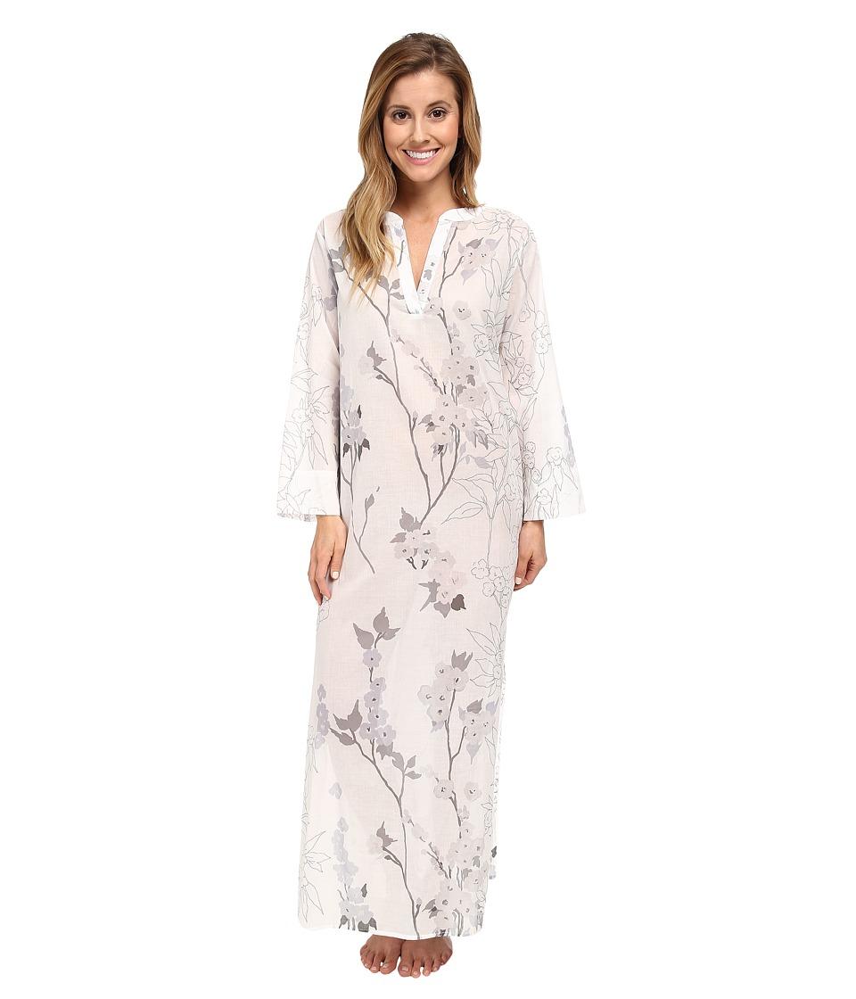 Natori - Sakura Caftan (White) Women's Pajama