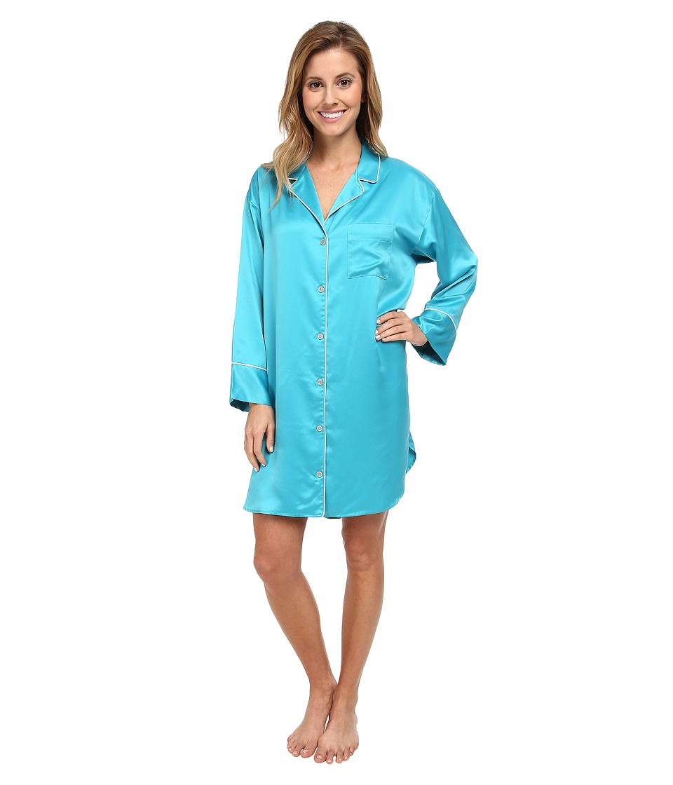 Natori - Charmeuse Essentials Sleepshirt (Fresh Water) Women's Pajama