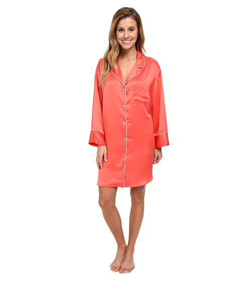 Natori - Charmeuse Essentials Sleepshirt (Coral) Women's Pajama