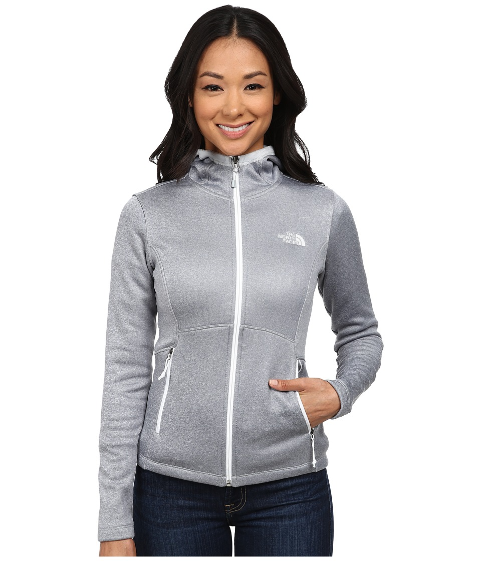 The North Face - Agave Hoodie (High Rise Grey Heather/TNF White) Women's Coat