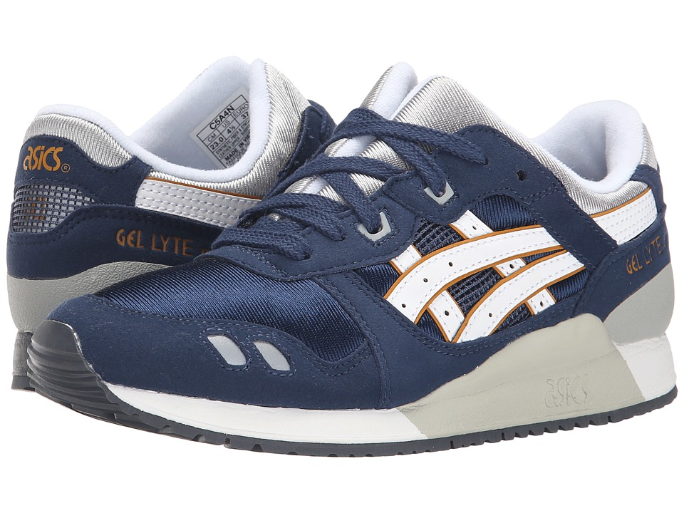 ASICS Kids - Gel-Lyte III (Big/Kid) (Navy/White) Boys Shoes