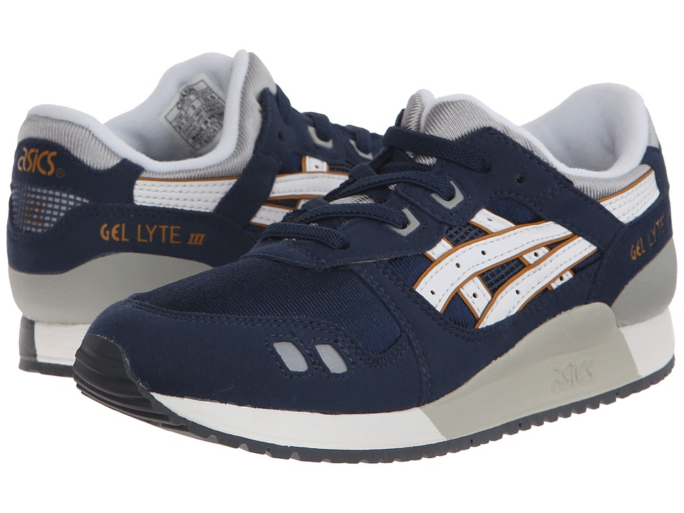 ASICS Kids - Gel-Lyte III (Toddler/Little Kid) (Navy/White) Boys Shoes