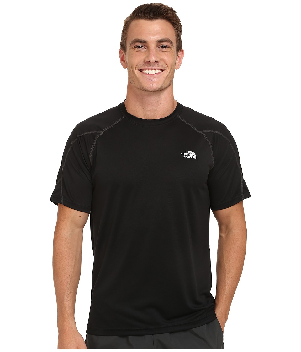 The North Face - Voltage Short Sleeve Crew Shirt (TNF Black/Asphalt Grey) Men's Short Sleeve Pullover
