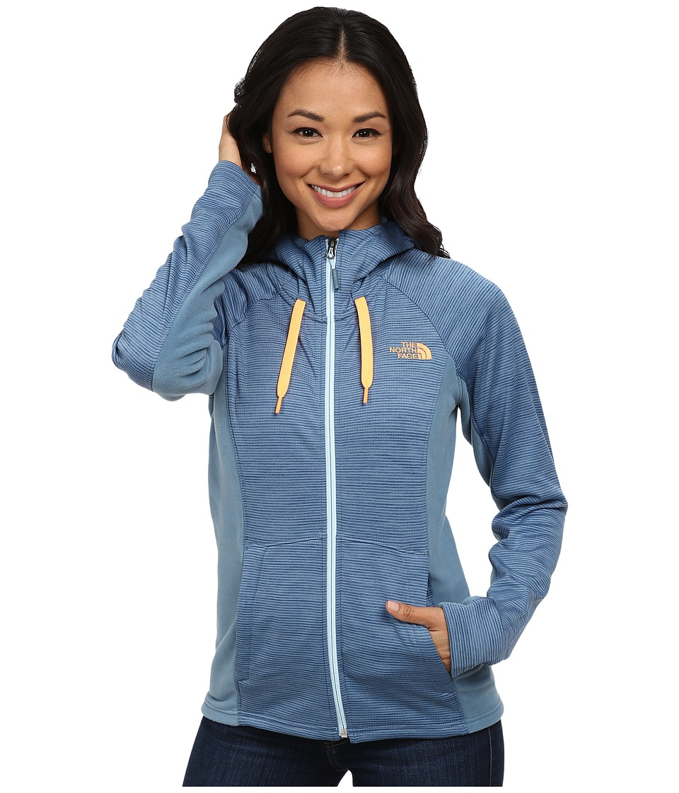 The North Face - Castle Crag Hoodie (Cool Blue Stripe/Cool Blue) Women's Sweatshirt