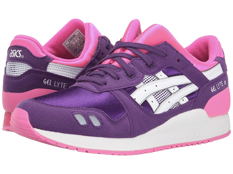 ASICS Kids - Gel-Lyte III (Big/Kid) (Purple/White) Girls Shoes