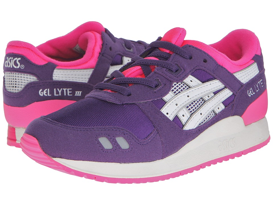 ASICS Kids - Gel-Lyte III (Toddler/Little Kid) (Purple/White) Girls Shoes