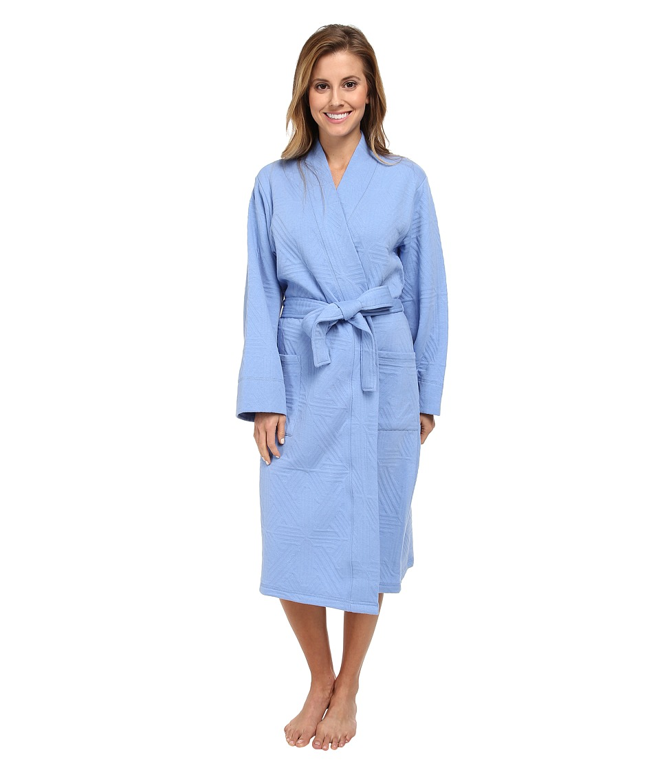 Natori - Quilted Cotton Wrap (Surf Blue) Women