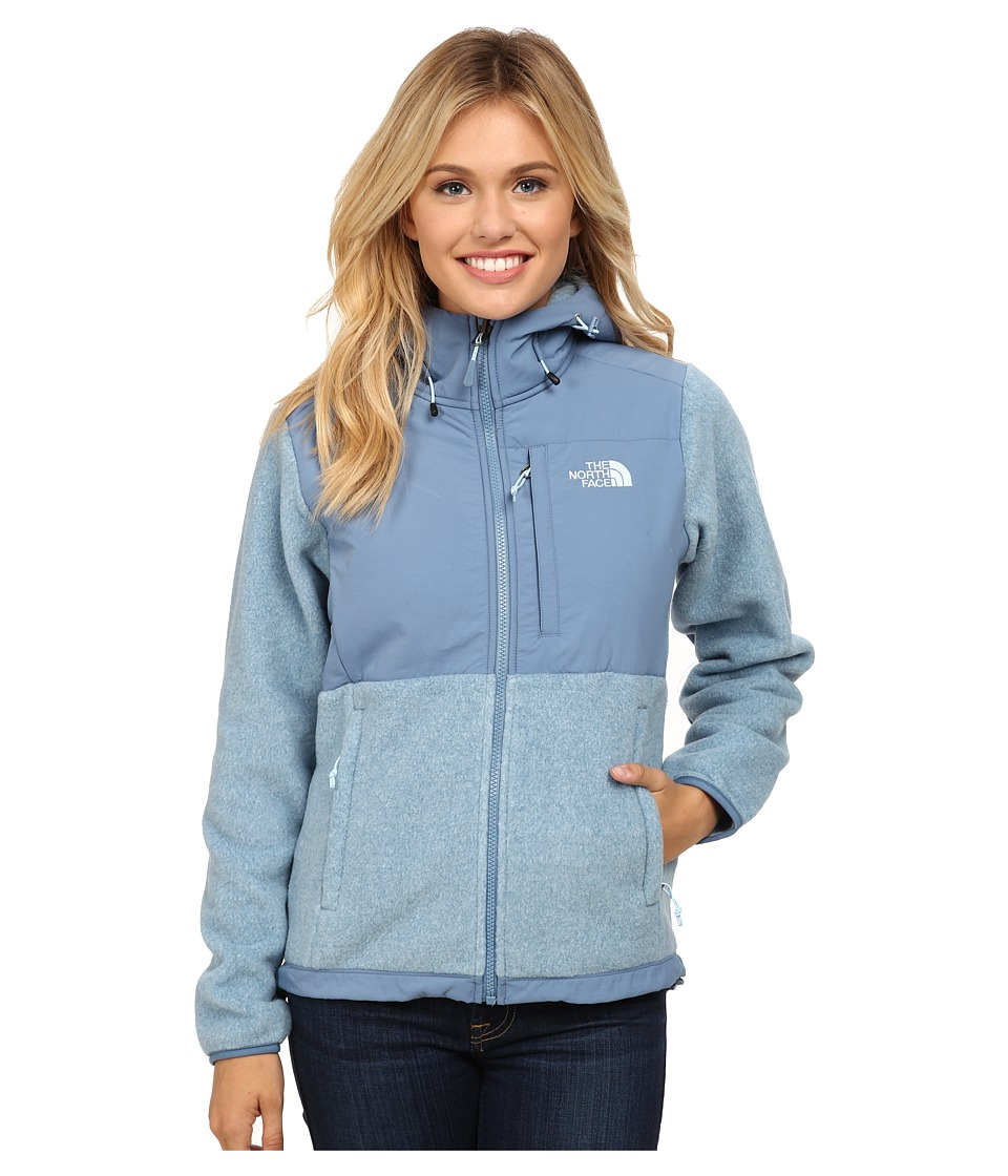 The North Face - Denali Hoodie (Recycled Cool Blue Heather/Cool Blue) Women's Coat