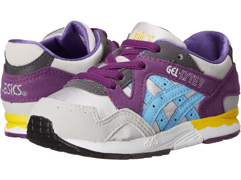 Onitsuka Tiger Kids by Asics - Gel-Lyte V (Toddler) (Soft Grey/Light Blue) Girls Shoes