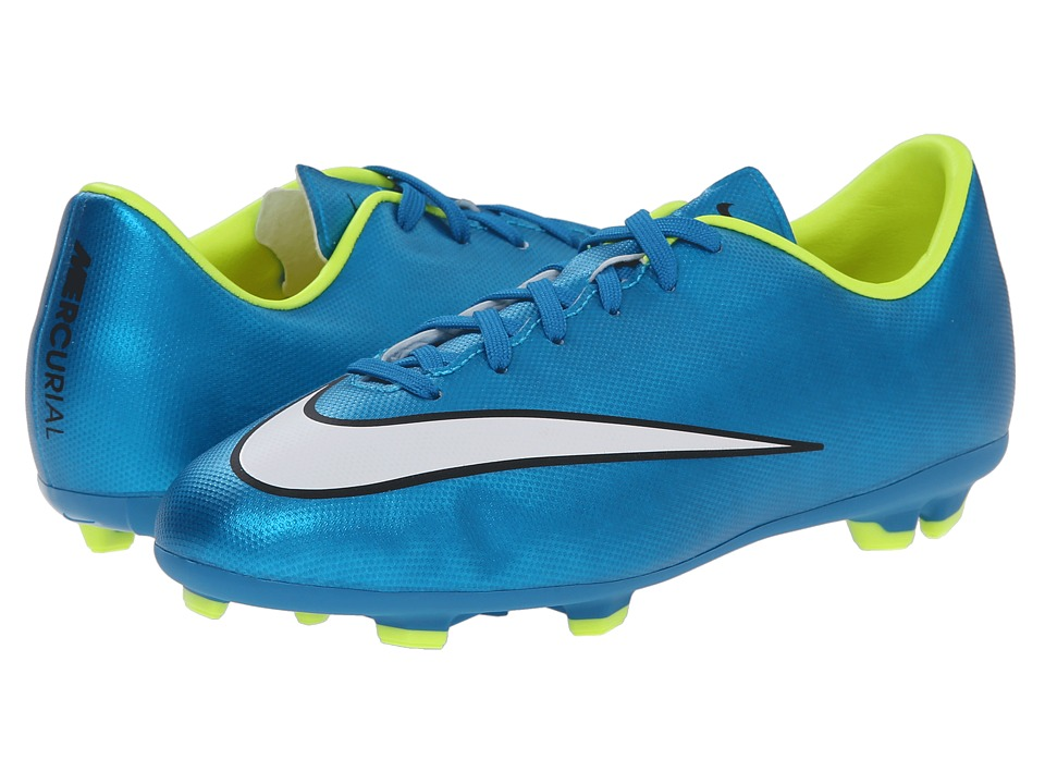 Nike Kids - Jr Mercurial Victory Firm Ground Soccer (Toddler/Little Kid/Big Kid) (Blue/Lagoon/White) Kids Shoes