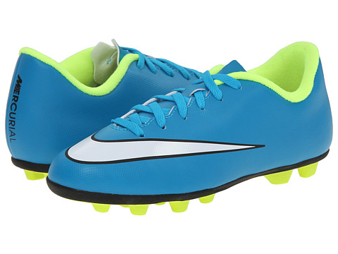 Nike Kids - Jr Mercurial Vortex II FG Soccer (Toddler/Little Kid/Big Kid) (Blue/Lagoon/White) Kids Shoes