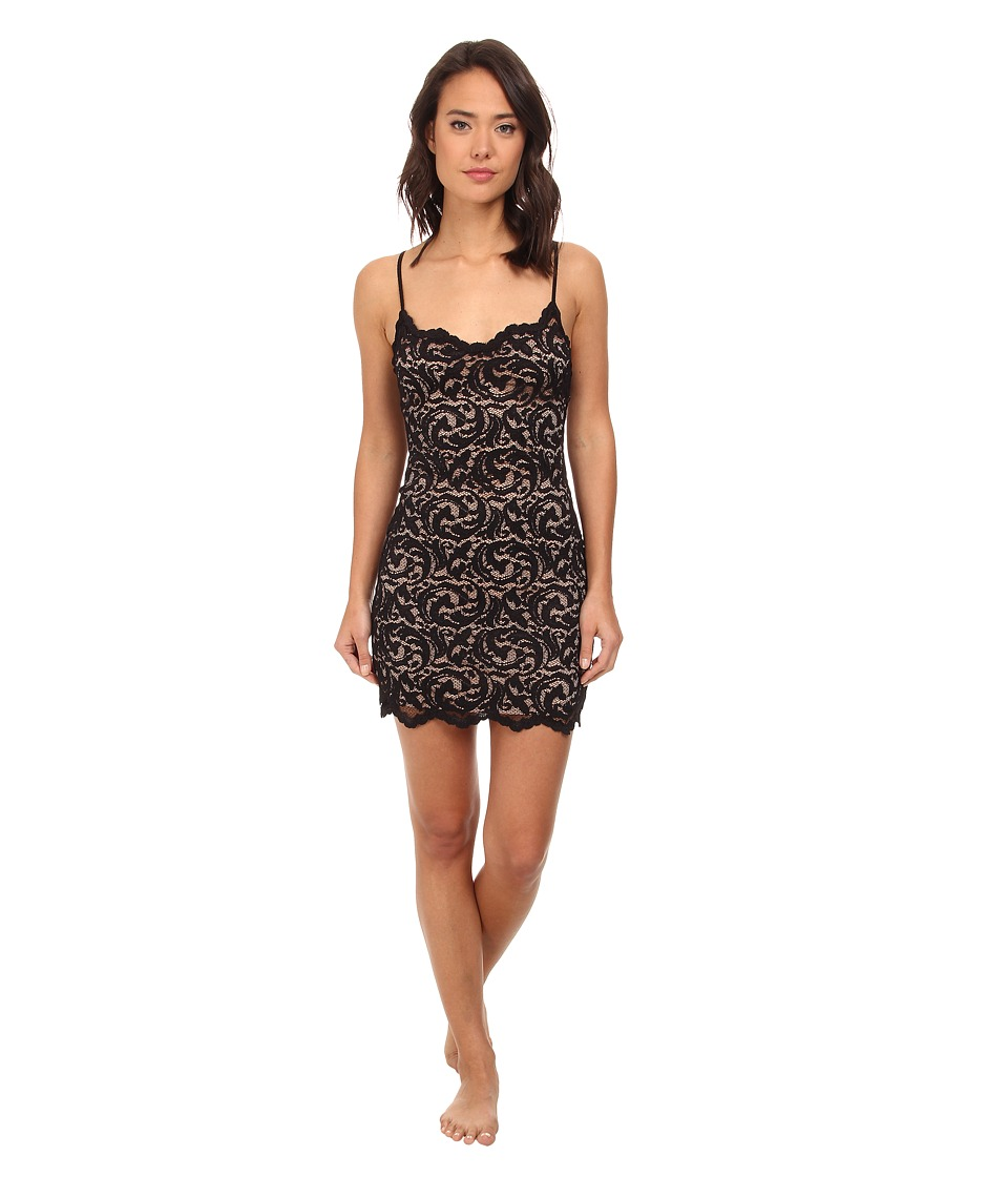 Natori - Boudoir - All Over Lace Chemise (Black) Women's Pajama