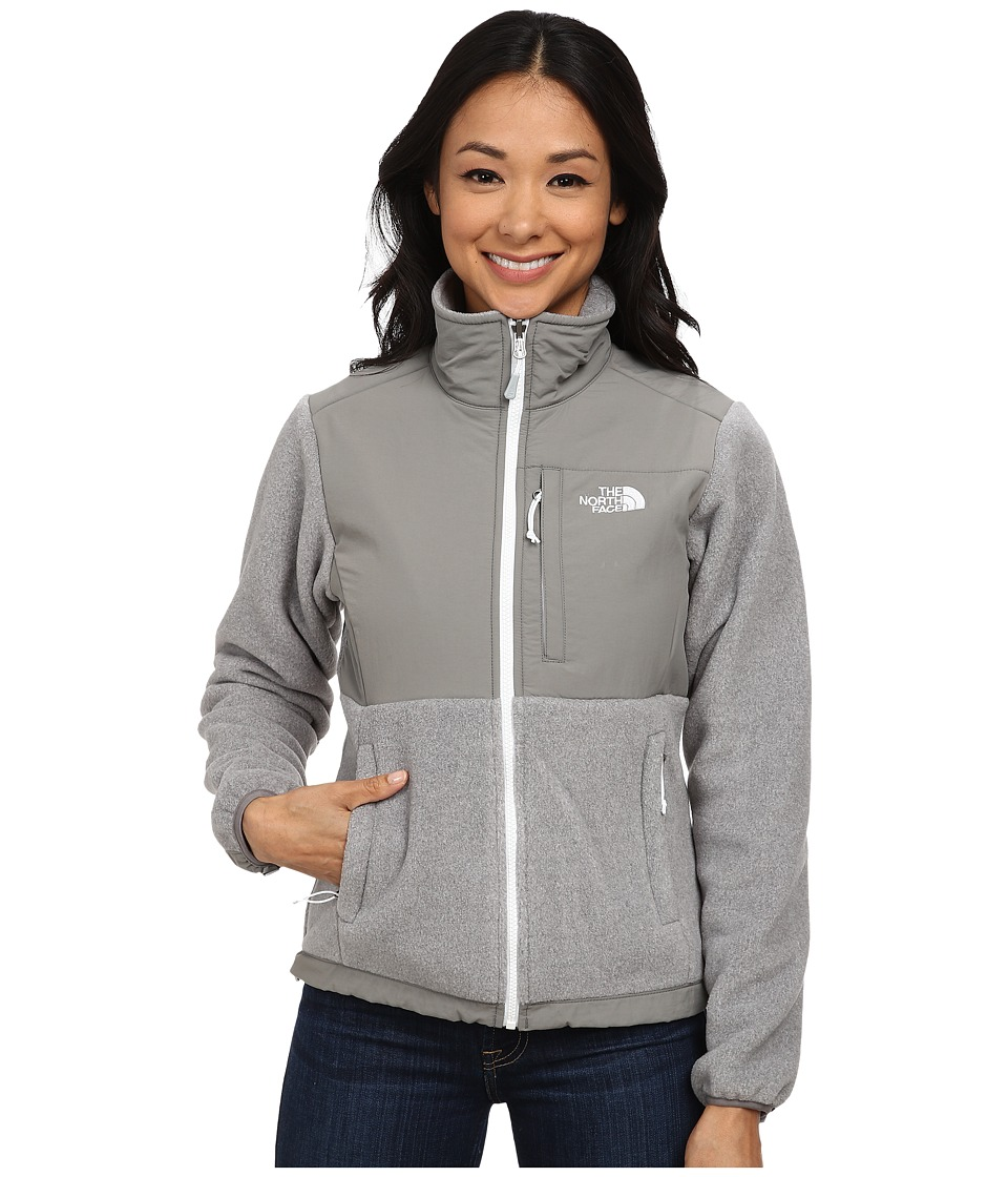 The North Face - Denali Jacket (Recycled High Rise Grey Heather/Pache Grey/TNF White) Women's Coat
