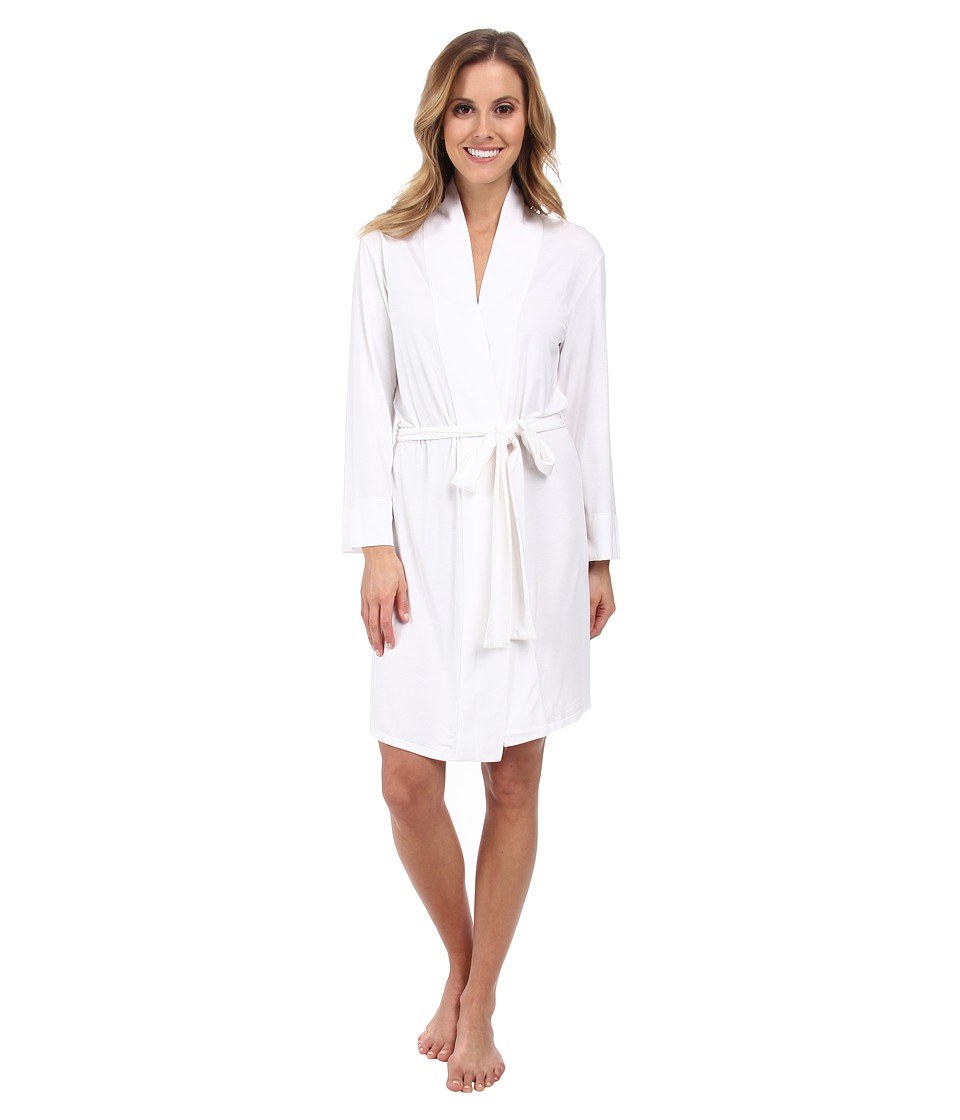 Natori - Feathers Wrap (White) Women's Pajama