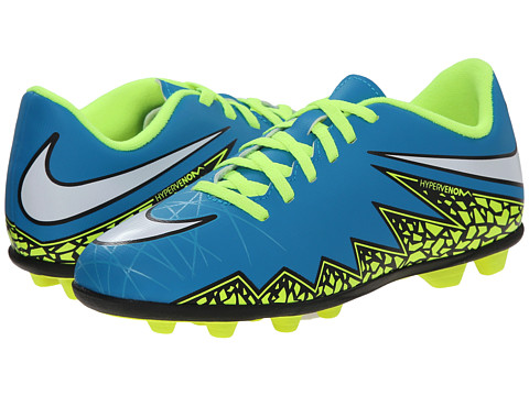 Nike Kids - Jr Hypervenom Phade 2 Firm Ground-R (Little Kid/Big Kid) (Blue/Lagoon/White) Kids Shoes