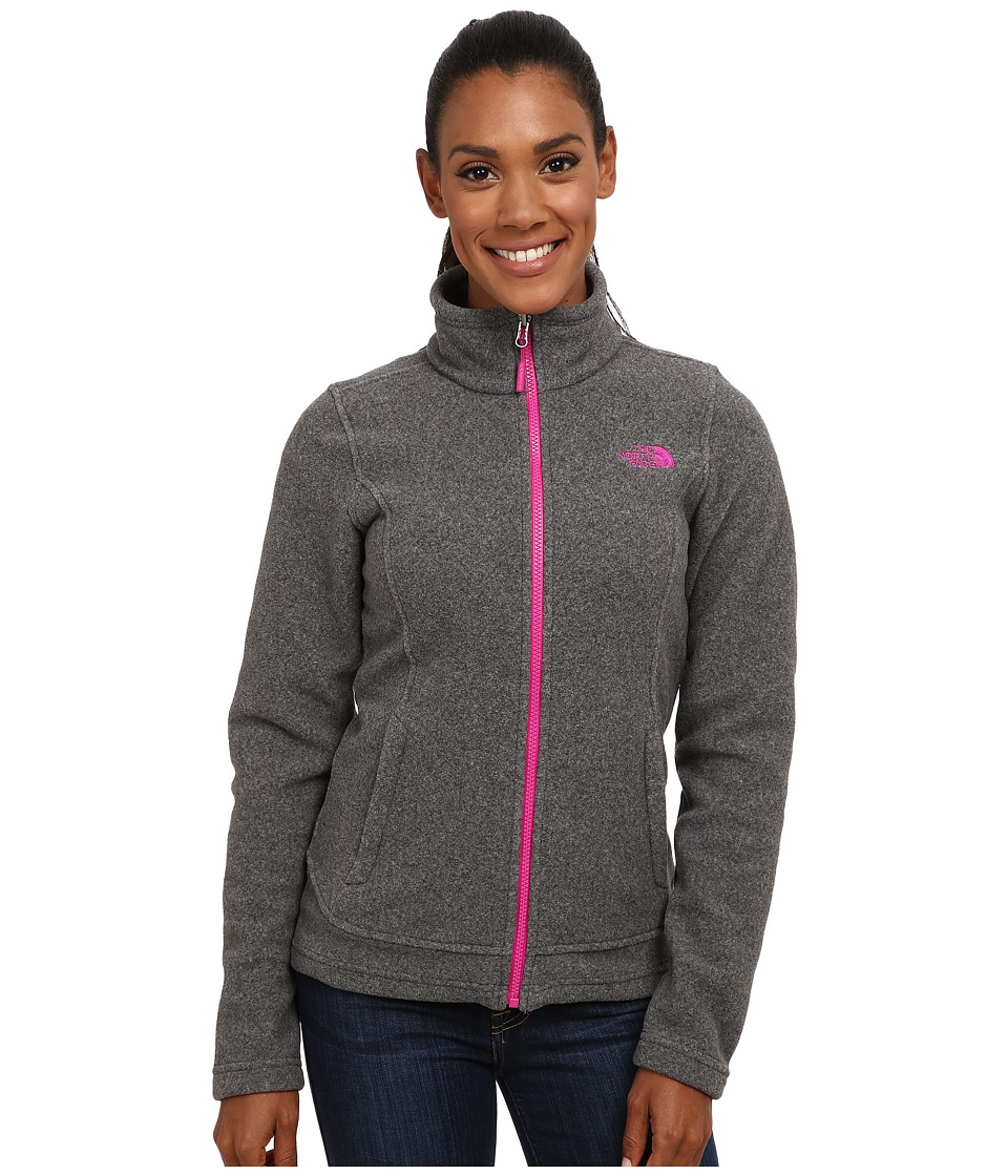 The North Face - Khumbu Jacket (Charcoal Grey Heather/Luminous Pink) Women's Coat