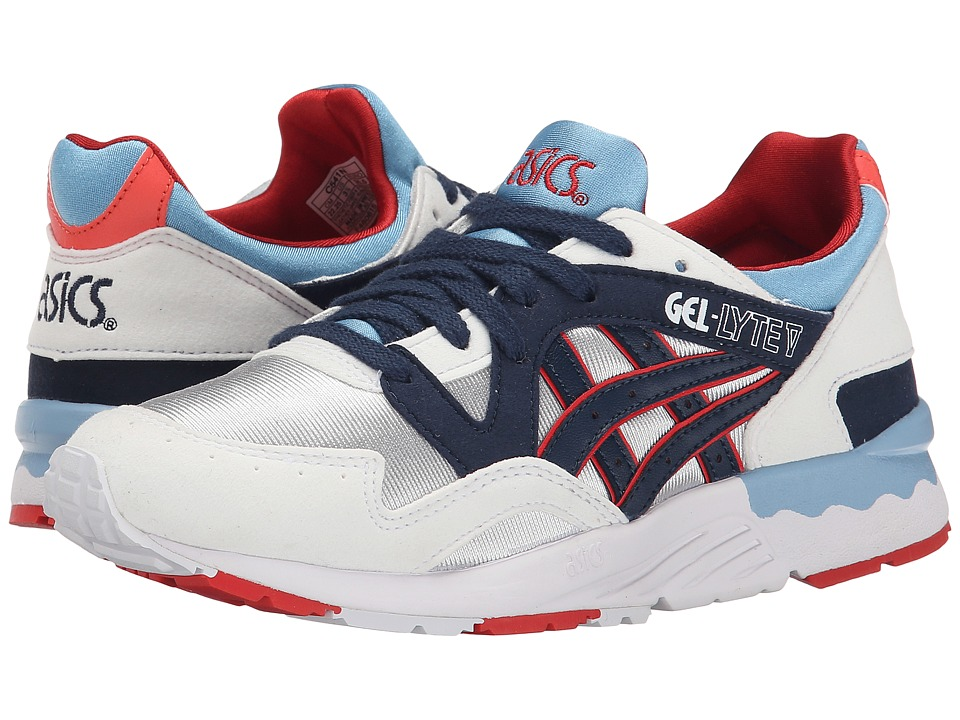 ASICS Kids - Gel-Lyte V (Big Kid) (Soft Grey/Navy) Boys Shoes