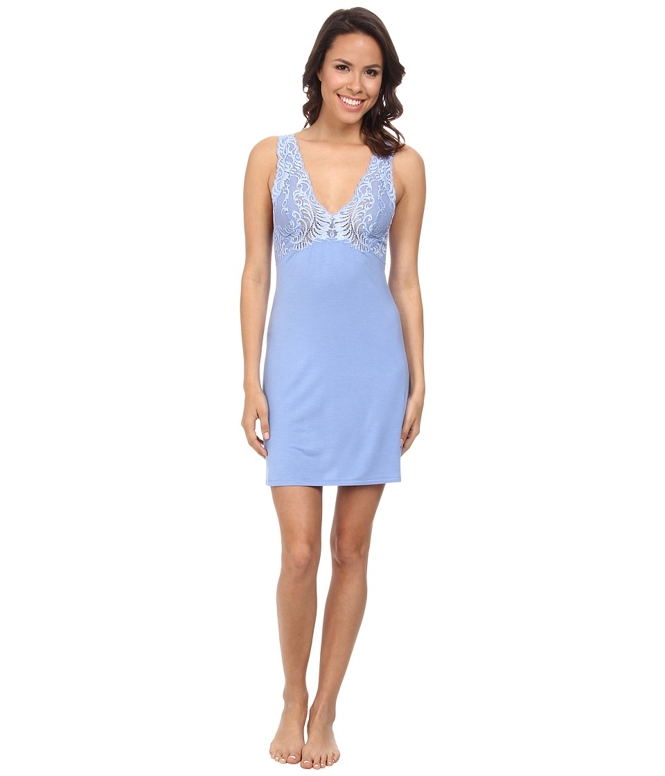 Natori - Feathers Chemise (Surf Blue) Women's Pajama