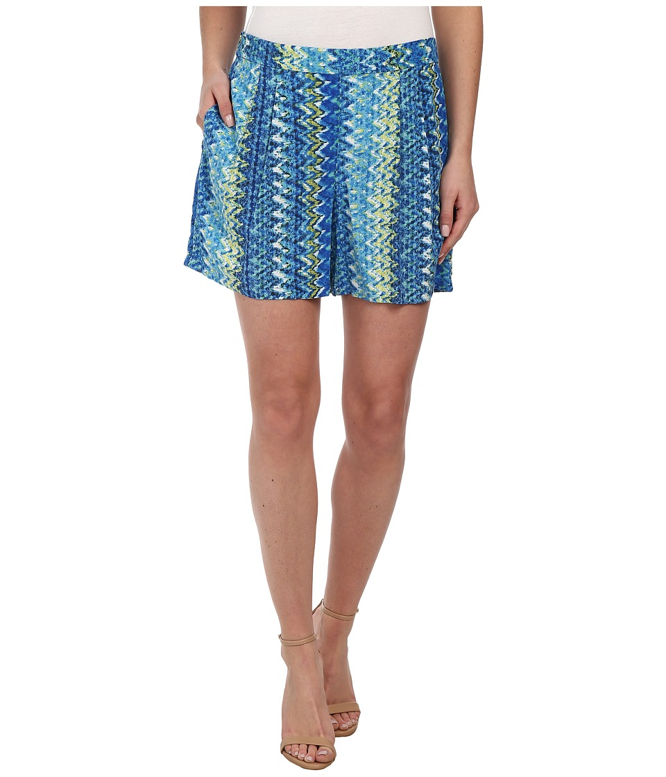 TWO by Vince Camuto - Ikat Chevron Culotte Shorts (Ocean) Women's Shorts