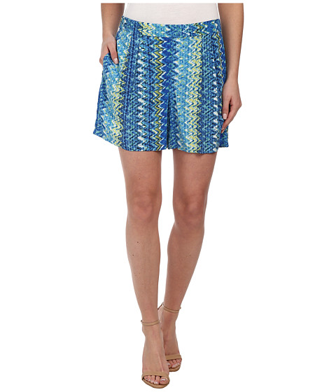TWO by Vince Camuto - Ikat Chevron Culotte Shorts (Ocean) Women