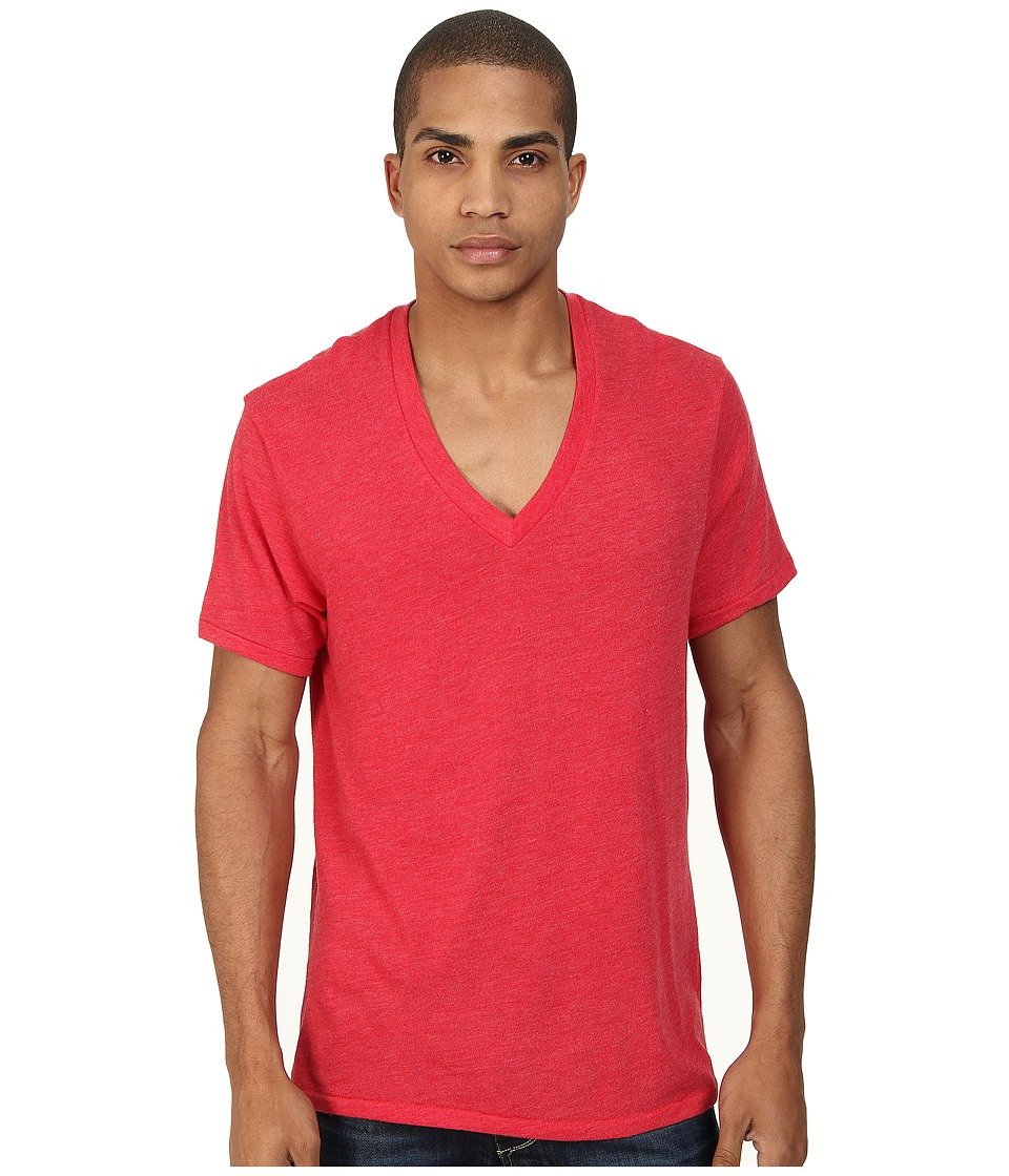 Alternative - Boss V-Neck Tee (Eco True Engine Red) Men's Short Sleeve Pullover