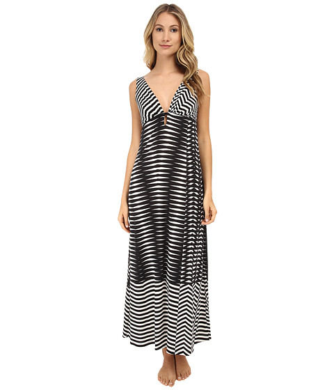 Natori - Portofino Sleeveless Gown (Black) Women's Pajama