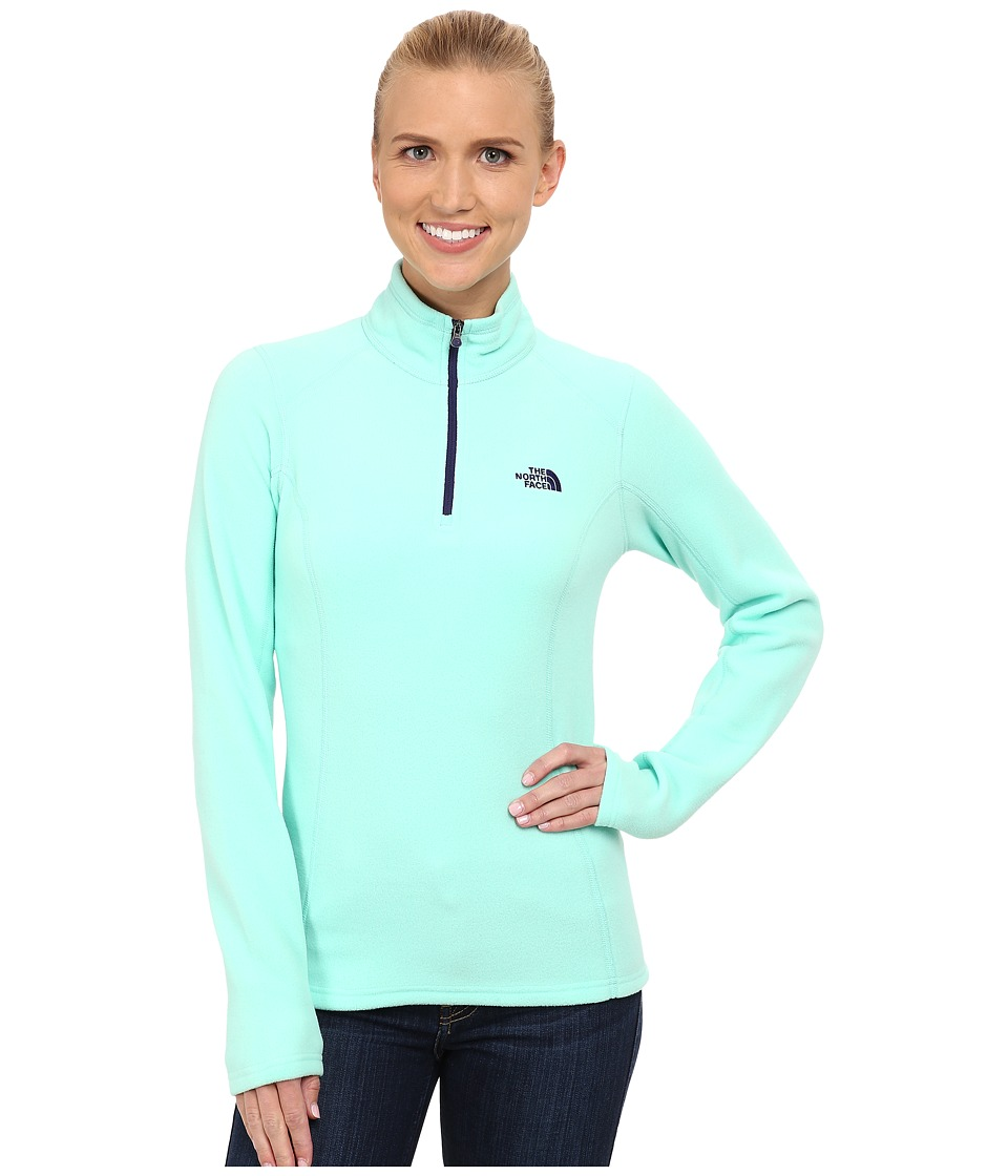 The North Face - Glacier 1/4 Zip Pullover (Surf Green) Women's Long Sleeve Pullover