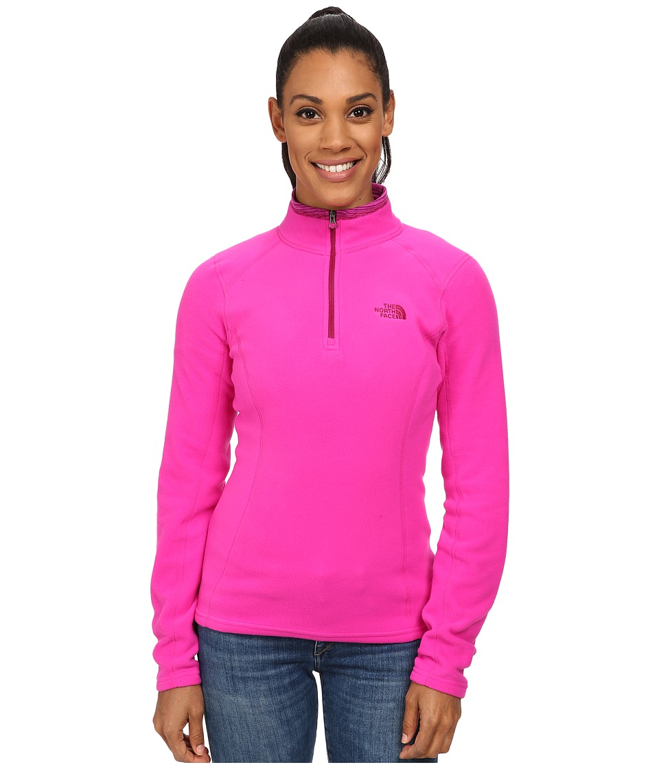 The North Face - Glacier 1/4 Zip Pullover (Luminous Pink) Women's Long Sleeve Pullover