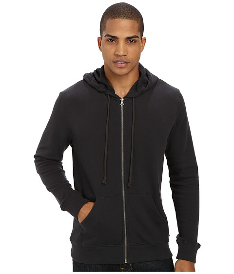Alternative - Light French Terry Zip Hoodie (Raven) Men's Sweatshirt