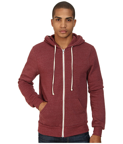 Alternative - Rocky Zip Hoodie (Eco True Black Cherry) Men's Sweatshirt