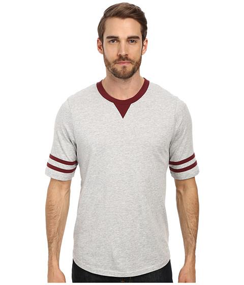 Alternative - Cotton Modal Football Tee (Heather Grey) Men's T Shirt