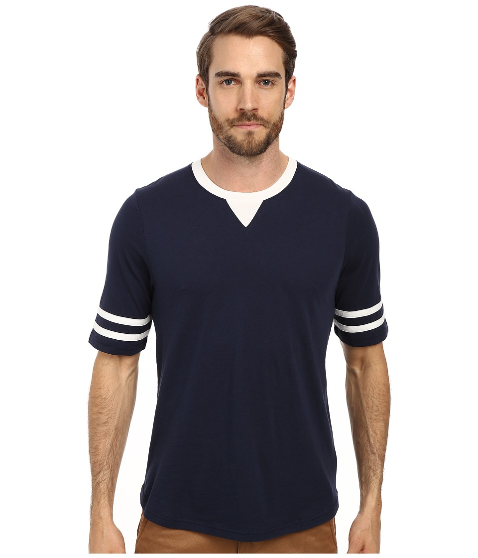 Alternative - Cotton Modal Football Tee (Midnight) Men's T Shirt