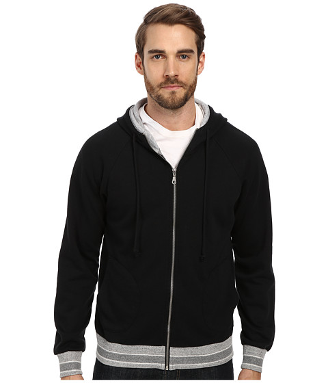 Alternative - Light French Terry Zip Hoodie (True Black) Men's Sweatshirt