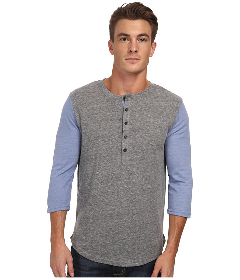 Alternative - Eco Jersey Baseball Henley (Eco Grey) Men
