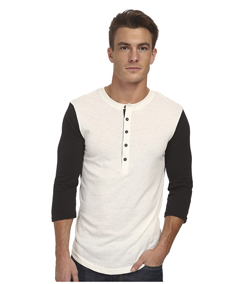 Alternative - Eco Jersey Baseball Henley (Eco Vanilla Ice) Men