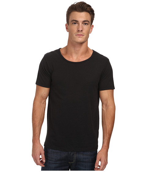 Alternative - Open Neck Tee (Eco True Black) Men's T Shirt